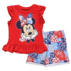 Minnie Mouse Toddler Girls 2 Piece Short Set