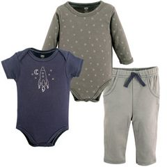 HUDSON BABY BOYS 2 BODYSUITS AND PANTS SET