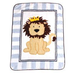 Luvable Friends High Pile Blanket, Lion
