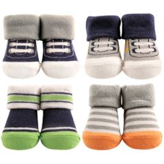 LITTLE SHOE SOCKS 4-PIECE GIFT SET, ATHLETIC