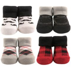 LITTLE SHOE SOCKS 4-PIECE GIFT SET, GENTLEMAN