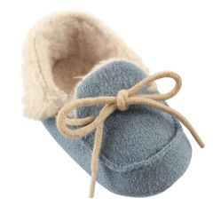LUVABLE FRIENDS COZY MOCCASIN SLIPPERS, BLUE