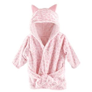 HUDSON BABY PLUSH BATHROBE, LEOPARD