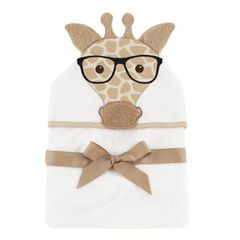Hudson Baby Animal Face Hooded Towel, Giraffe