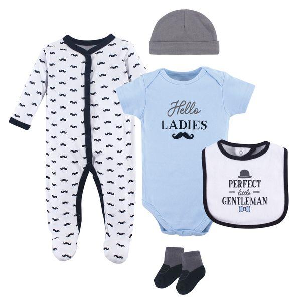 f9ee9214f HUDSON BABY BOYS 5 PIECE SLEEPER SET - LITTLE GENTLEMAN