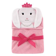 Hudson Baby Animal Face Hooded Towel, Bunny