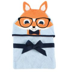 Hudson Baby Animal Face Hooded Towel, Fox