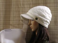White Fleece Lined Beanie
