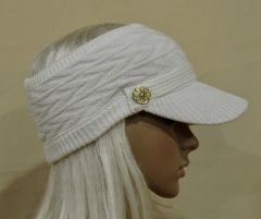 White Three Season Visor - Long Bill