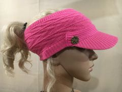 Hot Pink Three Season Short Visor