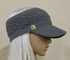 Gray Three Season Visor - Long Bill