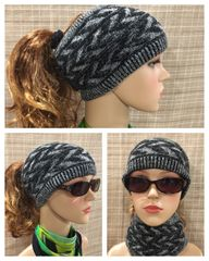 Fleece Lined Headband Black Mix