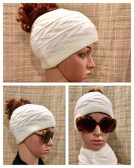 Fleece Lined Headband Off White