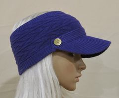 Purple Three Season Visor - Long Bill
