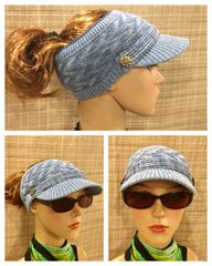 Blue Mix Three Season - Short Visor