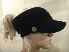 Black Three Season Short Visor