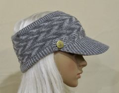 Gray Mix Three Season Visor - Long Bill