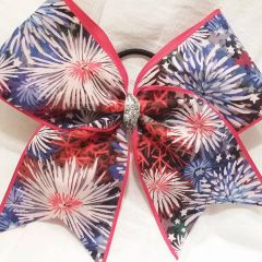 CHEER BOW - FIRWORKS