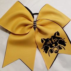 CHEER BOW - MASCOT or TEAM NAME DOUBLE PRACTICE (PLAIN) option to add mascot