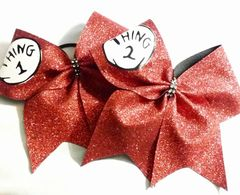 RED GLITTER SET - THING 1 & THING 2
