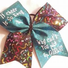 CHEER BOW - If cheer is so easy .... Why can't you pick up girls?