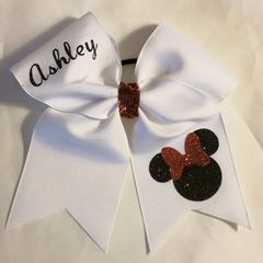 MINNE with BOW CHEER BOW - ADD YOUR NAME / CHANGE BOW COLOR