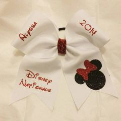 CHEER BOW - DESIGN A PLAIN GROSGRAIN CHEER BOW (base price with additional add ons)