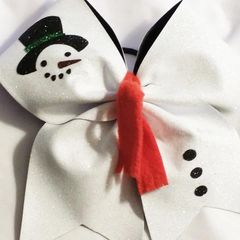 CHEER BOW - FROSTY the SNOWMAN ADD a NAME OPTION