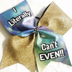 CHEER BOW - I literally can't EVEN