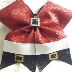 SANTA CLAUS CHEER BOW