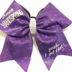 CHEER BOW - BACK HANDSPRING yeah....i got that! OTHER COLOR OPTIONS