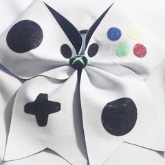 CHEER BOW - VIDEO GAME CONTROLLER THEMED CHEER BOW