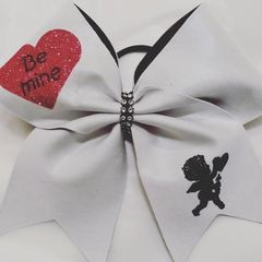 CHEER BOW - BE MINE CUPID VALENTINE