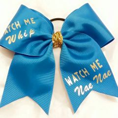 CHEER BOW - WATCH ME Whip WATCH ME Nae Nae CHEER BOW ( You have the option to change RIBBON COLOR )