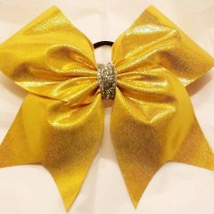 CHEER BOW - YELLOW METALLIC FULL CHEER BOW