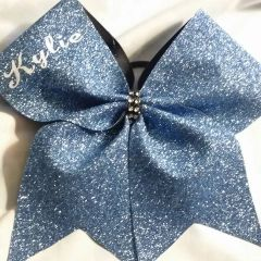 GLITTER CHEER BOW with Cheerleader name