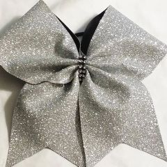 CHEER BOW - GLITTER - with options to ADD A NAME, SAYING, TEAM LOGO -