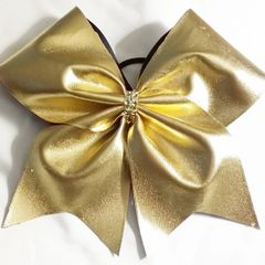 CHEER BOW - GOLD or SILVER METALLIC ( FULL) - add your name or saying