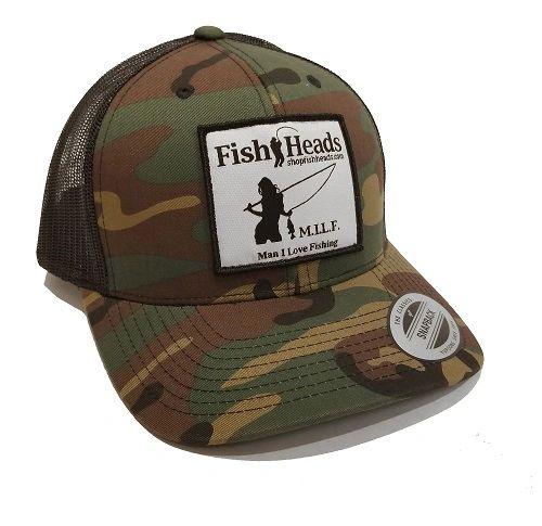 35376cdd762 FishHeads MILF Fishing FlexFit Snapback Trucker Hat - Man I Love Fishing