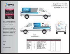 Dodge Sprinter 2011 - Rear Window - Complete Kit