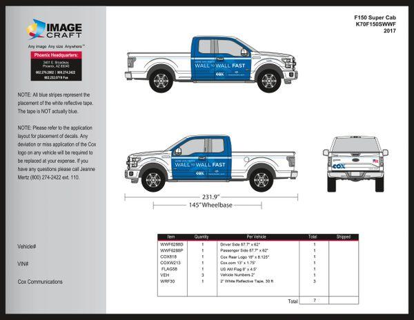 Ford F150 Super Cab - Wall to Wall Fast - 2017 - A la Carte