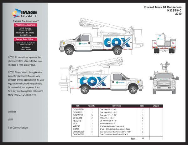 Bucket Truck F150 2010 (K33BT84C) - Complete Kit