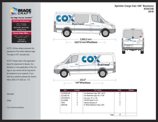 Sprinter Cargo Van (144 WB) 2015 - Business - Complete Kit
