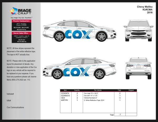 Chevy Malibu 2016 - Complete Kit