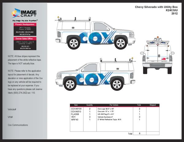 Chevy Silverado - Utility Box 2012 - Complete Kit
