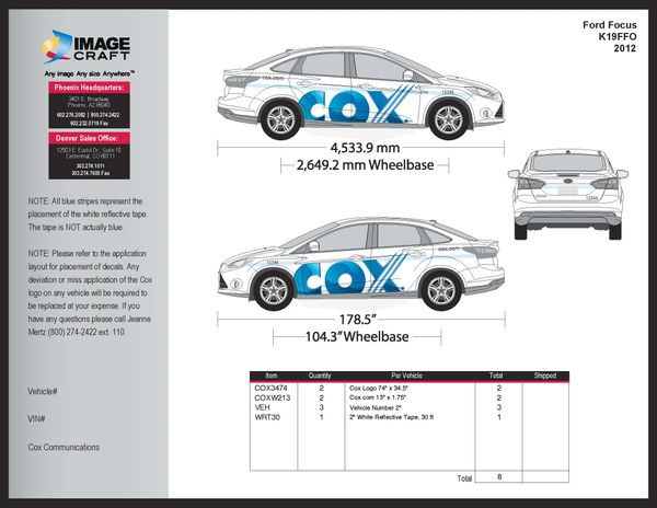 Ford Focus 2012 - Residential - Complete Kit