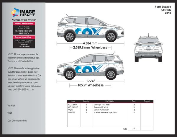 Ford Escape 2013 - Complete Kit