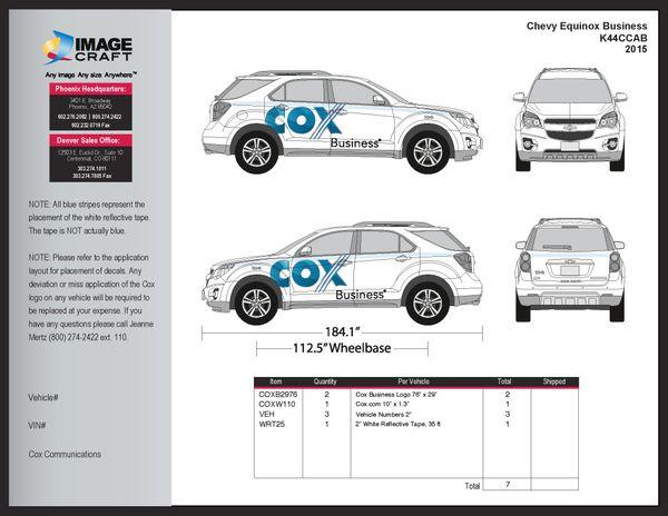 Chevy Equinox 2015 - Business - A la Carte