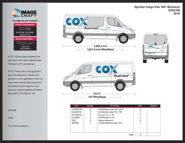 Sprinter Cargo Van (144 WB) 2015 - Business - A la Carte