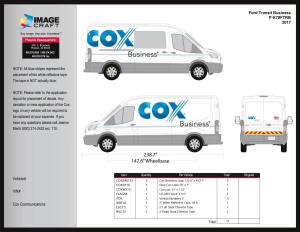 Ford Transit 2015-2018 - Business - Complete Kit